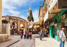 老城市义卖市场在耶路撒冷,以色列 免版税库存图片