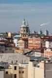 老城市和寺庙 喀山俄国 免版税库存照片