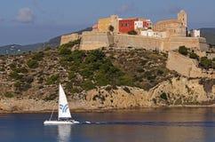 老城市在伊维萨岛 免版税库存照片