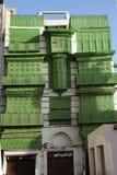 老城市在吉达,叫作`历史吉达`的沙特阿拉伯 老和遗产大厦和路在吉达 沙特阿拉伯15-06-2 免版税图库摄影