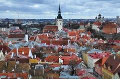 老城市在塔林,爱沙尼亚 库存照片