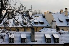 老城市在布拉格,捷克共和国 图库摄影