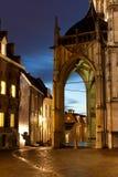 老城市在晚上 免版税库存照片