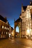 老城市在晚上 免版税库存图片