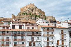 老城市在西班牙莫雷利亚 免版税库存图片