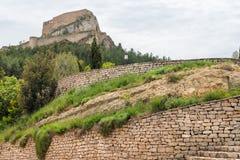老城市在西班牙莫雷利亚 库存照片