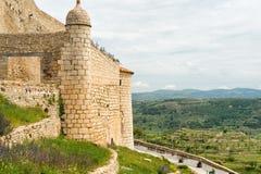 老城市在西班牙莫雷利亚 免版税图库摄影