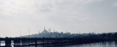 老城市地平线-伊斯坦布尔,土耳其 免版税库存照片