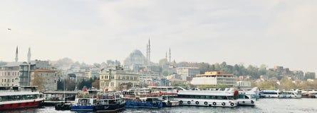 老城市地平线-伊斯坦布尔,土耳其 免版税库存图片