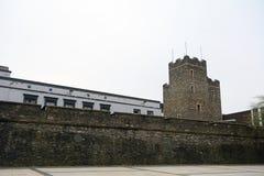 老城市墙壁, Derry,北爱尔兰 库存照片