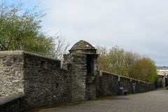 老城市墙壁, Derry,北爱尔兰 图库摄影