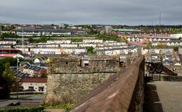 老城市墙壁, Derry,北爱尔兰 免版税库存照片