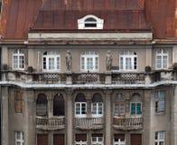 老城市大厦的门面在萨格勒布 库存照片