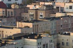 老城市屋顶 图库摄影