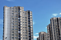 老城市摩天大楼 免版税图库摄影