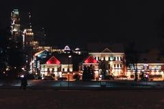 老城市晚上 免版税库存图片