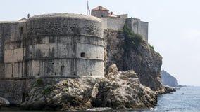 老城市的堡垒墙壁 免版税库存照片