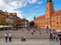 老城市的大广场在华沙 免版税图库摄影