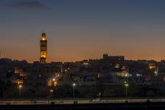 老城市的看法在梅克内斯,摩洛哥 库存照片