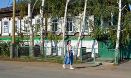 老城市的街道 免版税库存图片