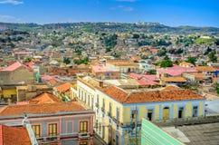 老城市的鸟瞰图 图库摄影
