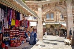 老城市耶路撒冷,以色列的阿拉伯市场 库存图片