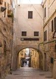 老城市耶路撒冷Viev  在neautiful大厦附近的晴朗的夏日 库存图片