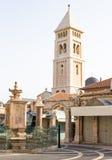 老城市耶路撒冷Viev  在neautiful大厦附近的晴朗的夏日 免版税库存照片
