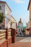老城市街道。波洛茨克。 库存图片