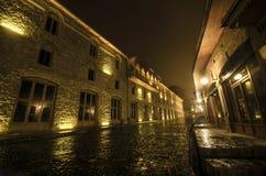 老城市街道阿塞拜疆 免版税库存图片