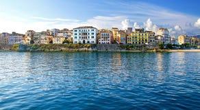 老城市,科孚岛,希腊 免版税库存图片