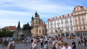 老城广场在布拉格,捷克 影视素材