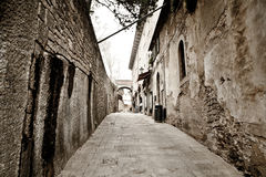 老城镇。 意大利。 库存图片