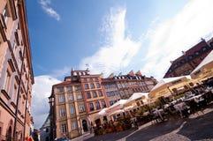老城镇华沙 免版税库存图片