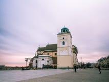 老城镇华沙 免版税图库摄影