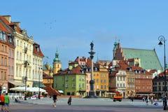 老城镇华沙 库存图片