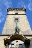 老城镇厅在一个晴天 库存图片