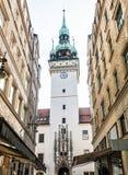 老城镇厅在布尔诺,捷克共和国 免版税库存图片