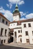 老城镇厅在布尔诺 库存图片