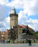 老城镇厅在布拉格,捷克共和国 库存照片