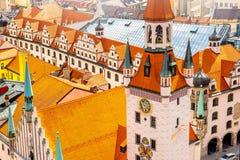 老城镇厅在慕尼黑 免版税库存图片