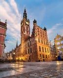 老城镇厅在格但斯克,波兰 免版税库存图片