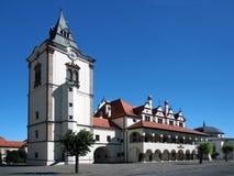 老城镇厅在Levoca 库存照片