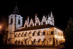 老城镇厅在Levoca 库存图片
