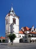老城镇厅塔在Levoca 图库摄影