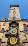 老城镇厅时钟布拉格-捷克 库存图片