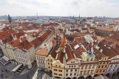 从老城镇厅的看法布拉格的,捷克,欧洲 库存图片