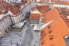 从老城镇厅的看法布拉格的,捷克,欧洲 图库摄影
