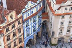 从老城镇厅的看法布拉格的,捷克,欧洲 免版税图库摄影
