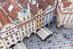 从老城镇厅的看法布拉格的,都市风景,捷克 库存图片